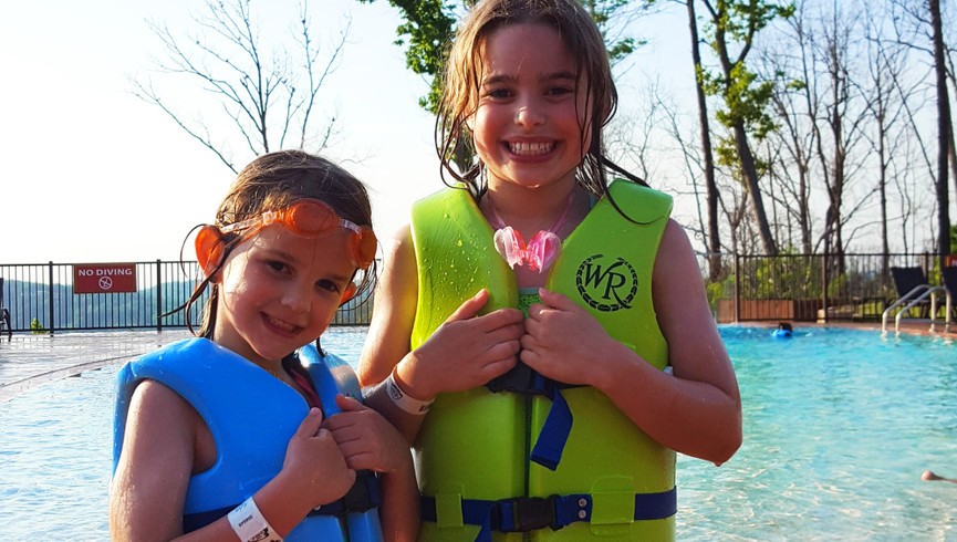 Girls by the pool - Westgate Smoky Mountain Resort