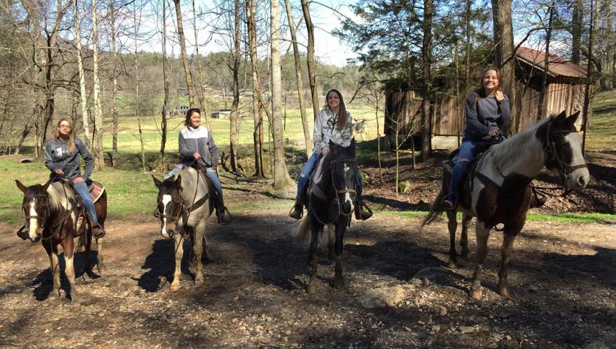 People on horseback - Westgate Smoky Mountain Resort