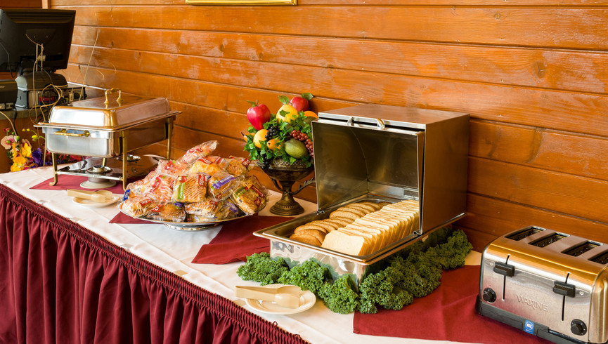 Banquet food on display - Westgate Smoky Mountain Resort