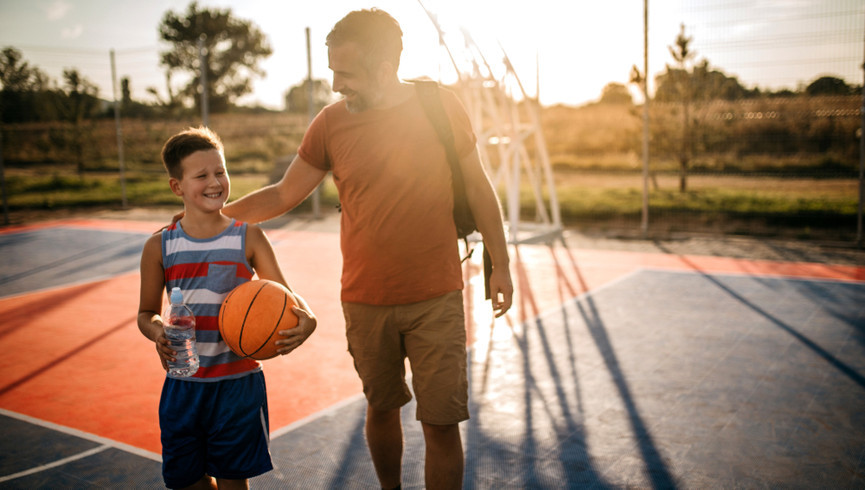 Men playing at our hotels with basketball courts | Westgate Palace Resort | Westgate Resorts