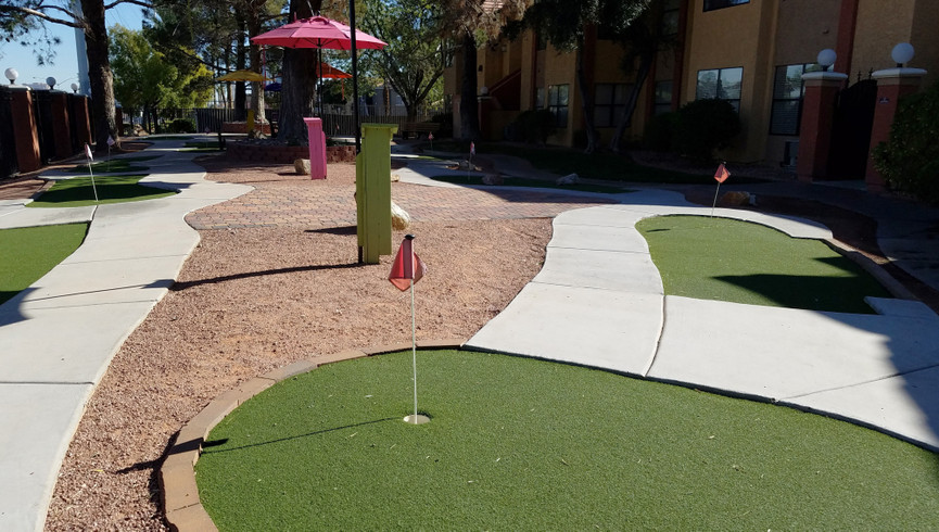 Mini golf course at our Flamingo Las Vegas hotel | Westgate Flamingo Bay Resort | Westgate Resorts in Las Vegas NV