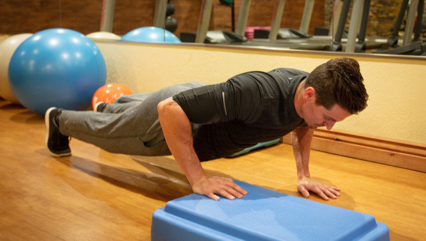 Man doing pushups at the Fitness Center | Westgate Park City Resort