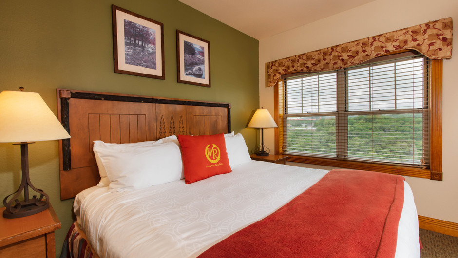Bedroom in Two-Bedroom Grand Villa | Westgate Branson Woods Resort | Westgate Resorts