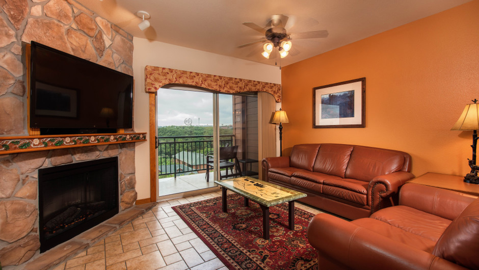 Living Area in Two-Bedroom Grand Villa | Westgate Branson Woods Resort | Westgate Resorts