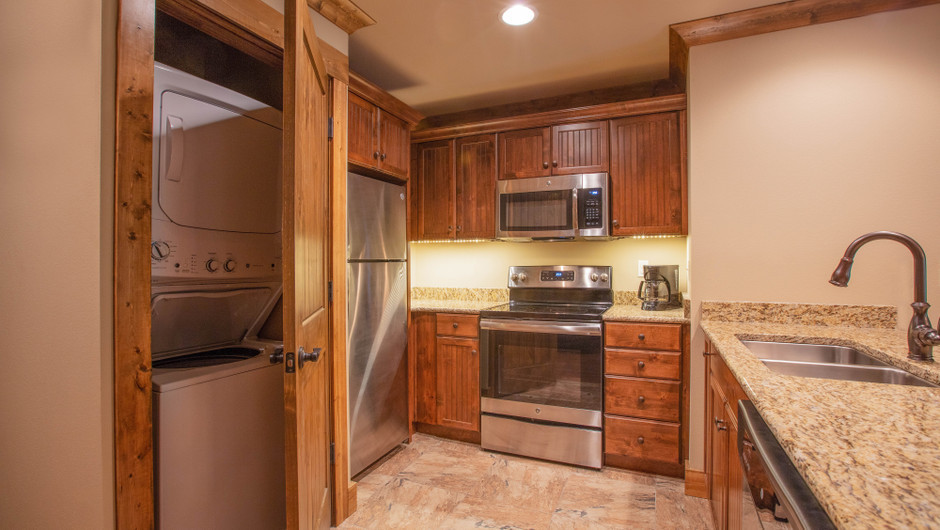 Kitchen in Two-Bedroom Grand Villa | Westgate Branson Woods Resort | Westgate Resorts