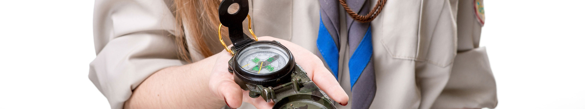 Make Your Branson Scout Meeting Memorable - Scout holding compass