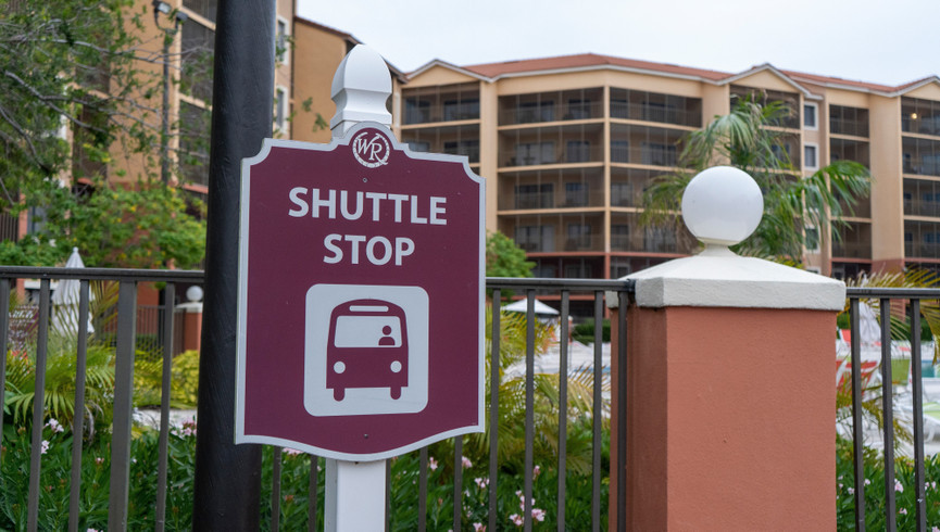 Sign For Shuttle Service