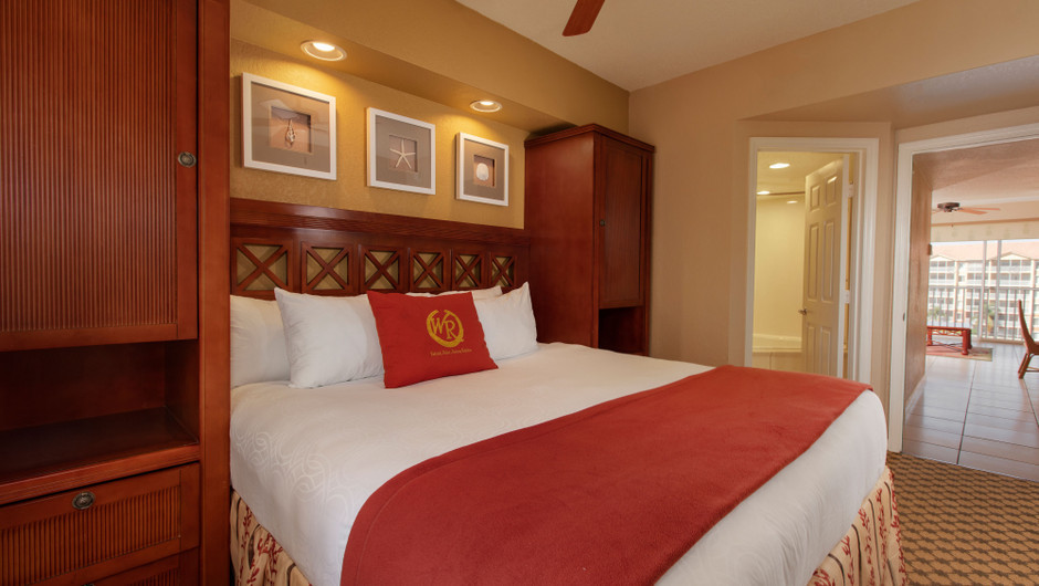 Bedroom in our Three Bedroom Villa - Westgate Town Center Resort