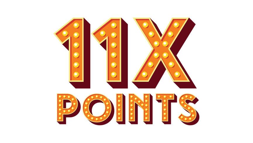 11X Points