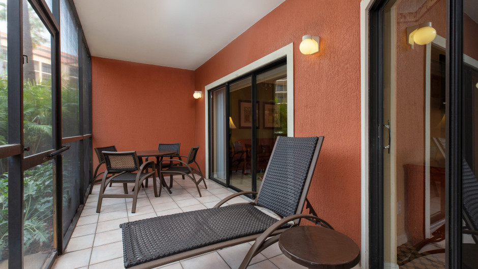 Patio in a Two-Bedroom Villa | Westgate Lakes Resort & Spa | Orlando, FL | Westgate Resorts