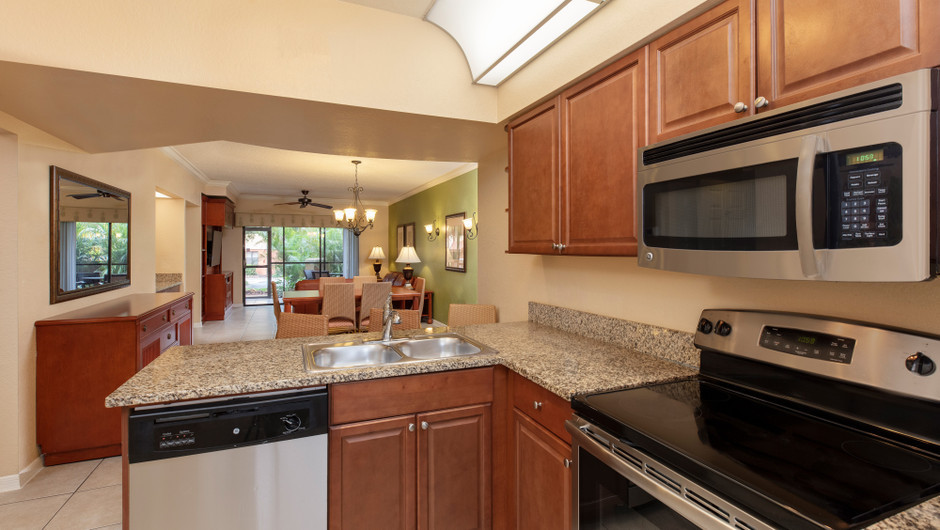 Kitchen in a Two-Bedroom Villa | Westgate Lakes Resort & Spa | Orlando, FL | Westgate Resorts