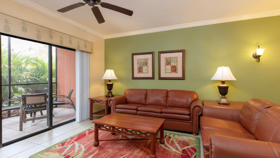 Living Area in a Two-Bedroom Villa | Westgate Lakes Resort & Spa | Orlando, FL | Westgate Resorts