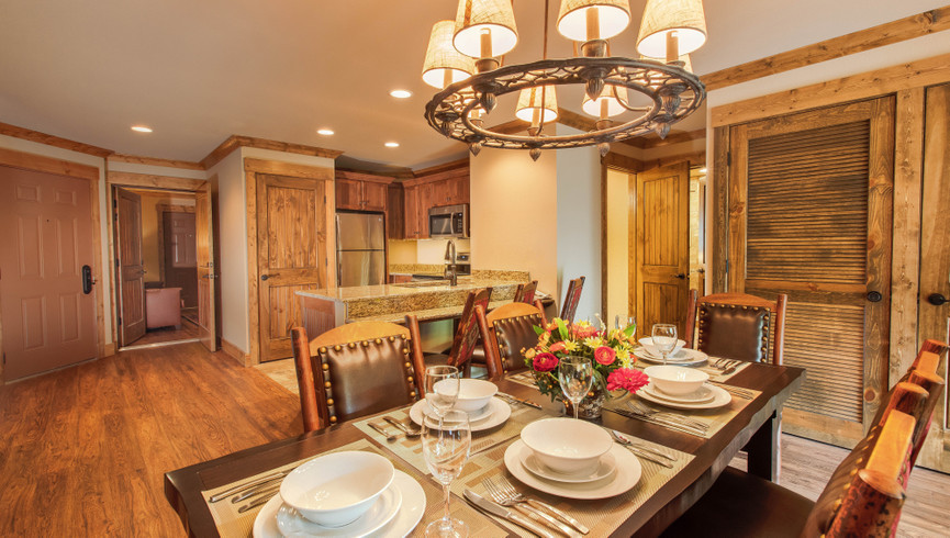 Dining area in our two bedroom villa - Westgate Branson Woods Resort