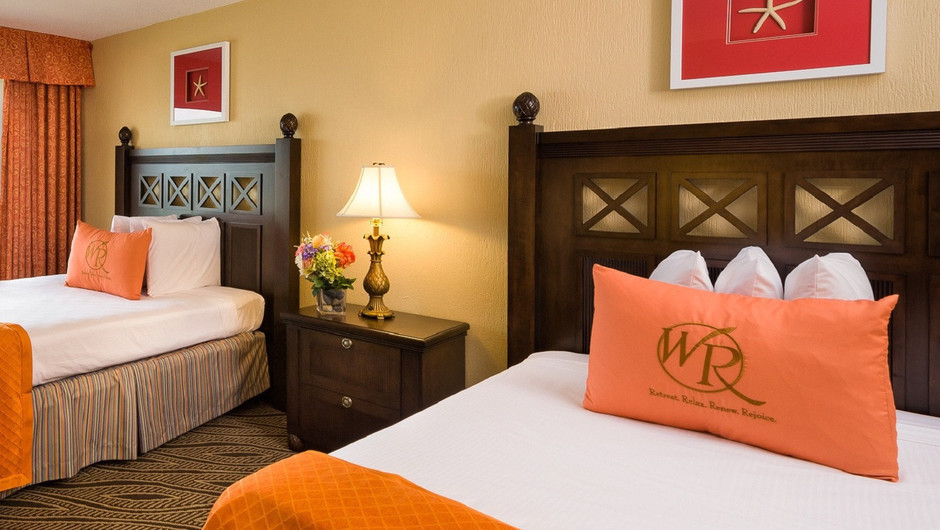 Bedroom in our Double Queen Guestroom | Westgate Myrtle Beach Resort