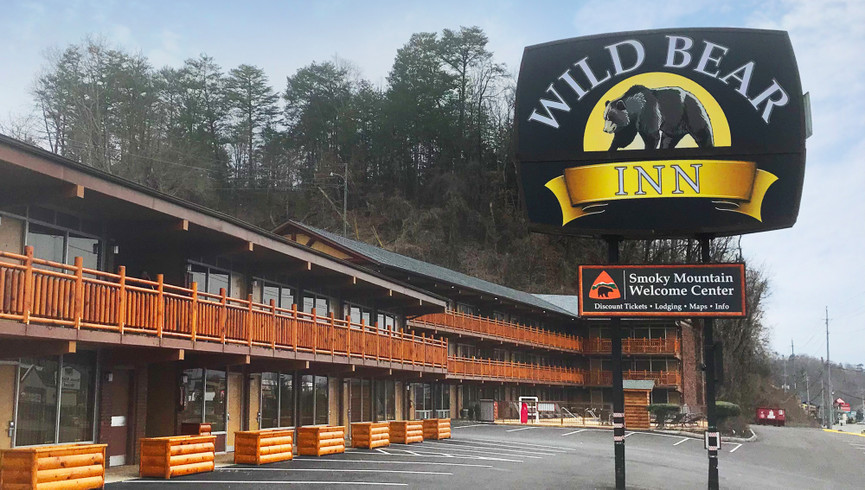 Exterior view of Wild Bear Inn - Resort Operations Jobs