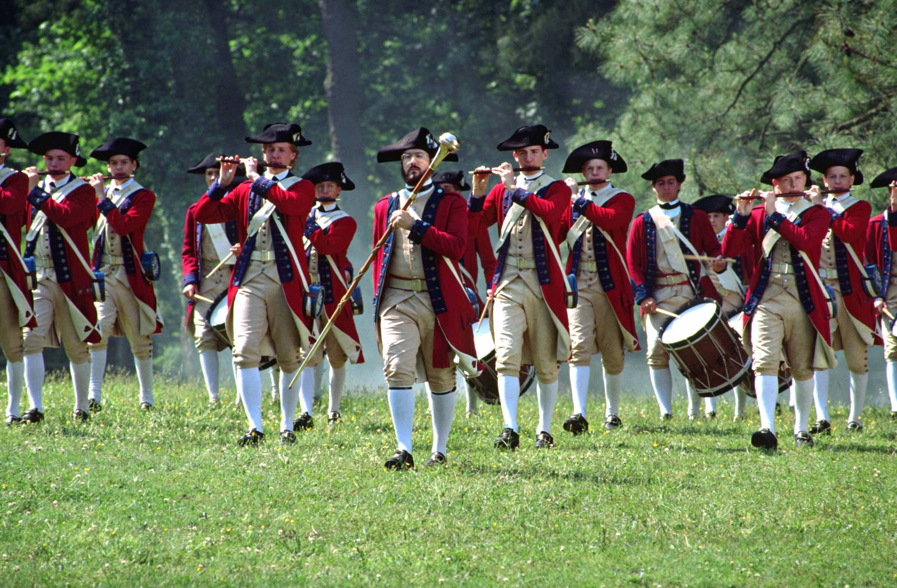 Marching British Soldiers | Historic Colonial Williamsburg | Westgate Resorts