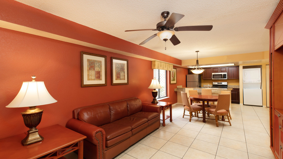 Two-Bedroom Deluxe Villa Living Area | Westgate Vacation Villas Resort | Orlando, FL | Westgate Resorts