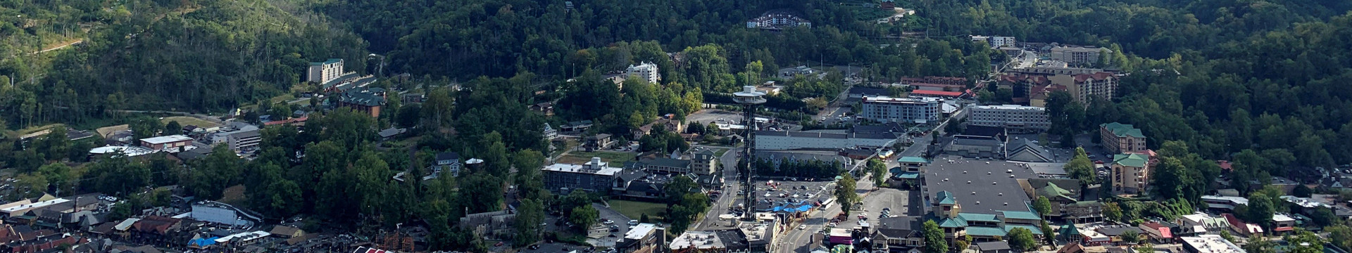 View of Downtown Gatlinburg - River Terrace