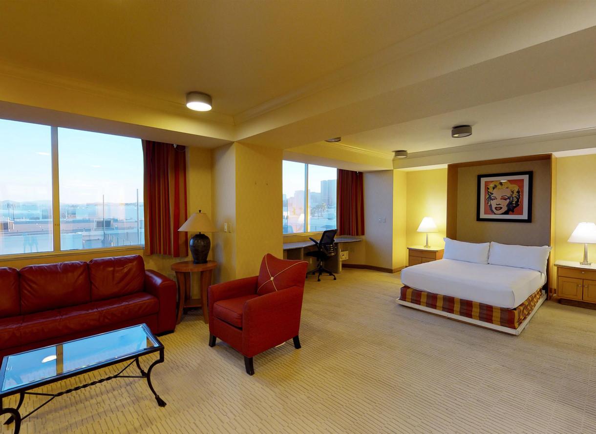 Las Vegas Hotel Room Deluxe One Bedroom Suite