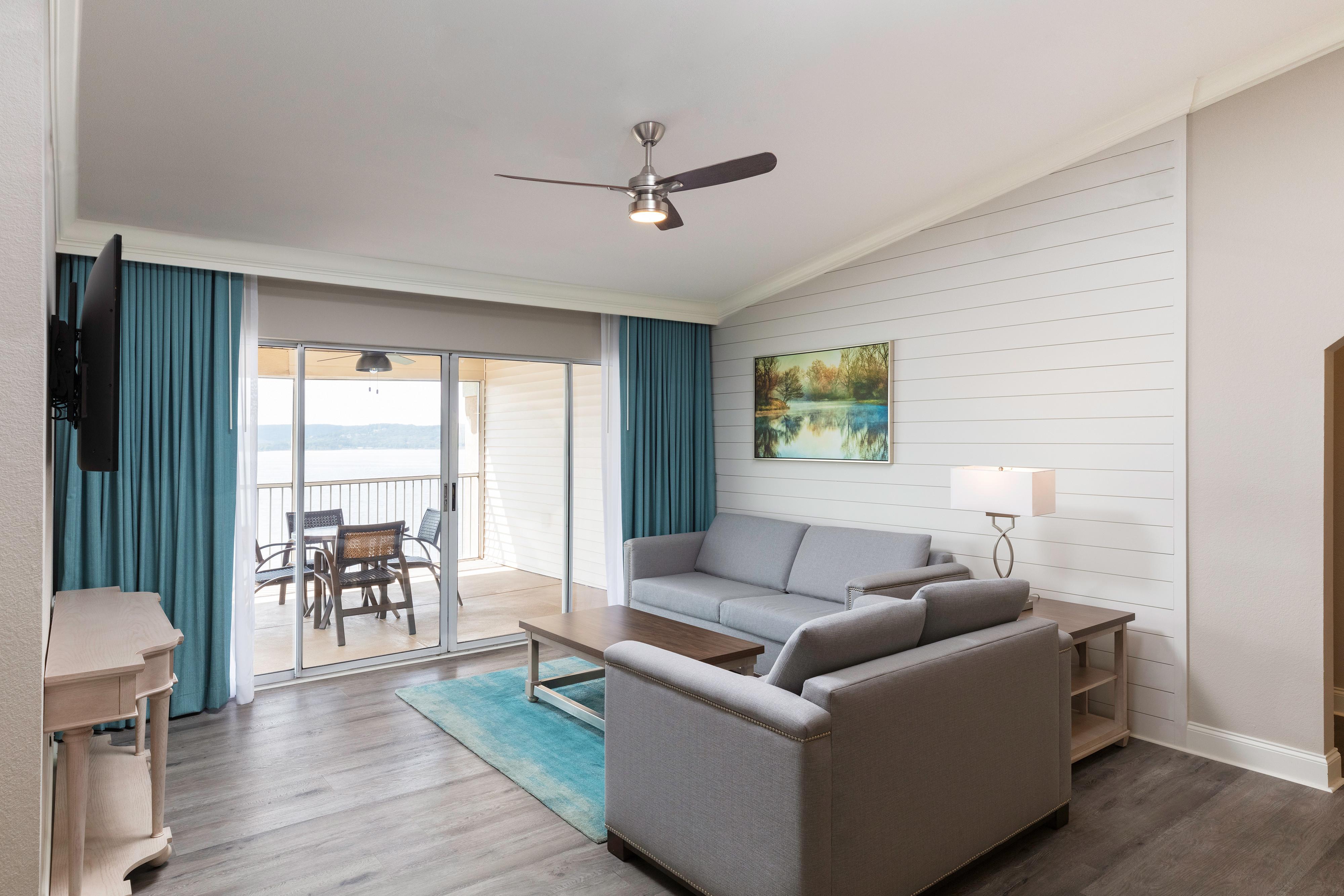 1 Bedroom Villa Suites at our Branson Resort | Living Area in One-Bedroom Deluxe