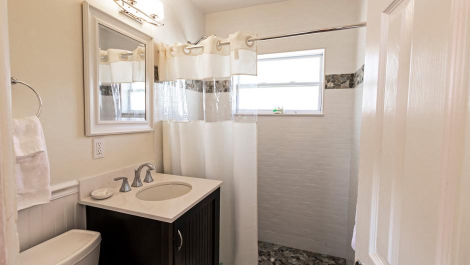 Bathroom in the Coastal Suite - Sea View Inn