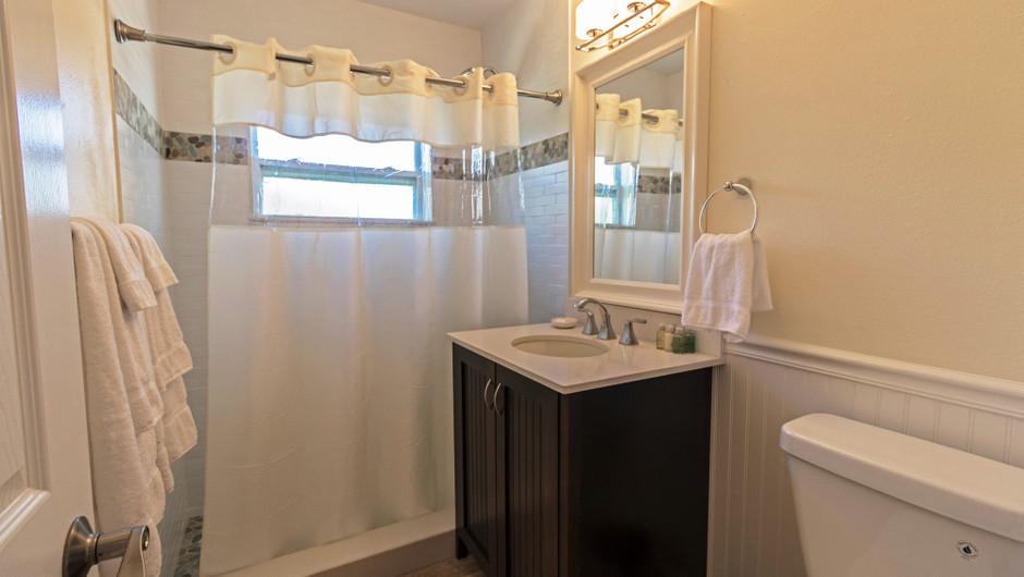 Bathroom in the Ocean Suite - Sea View Inn