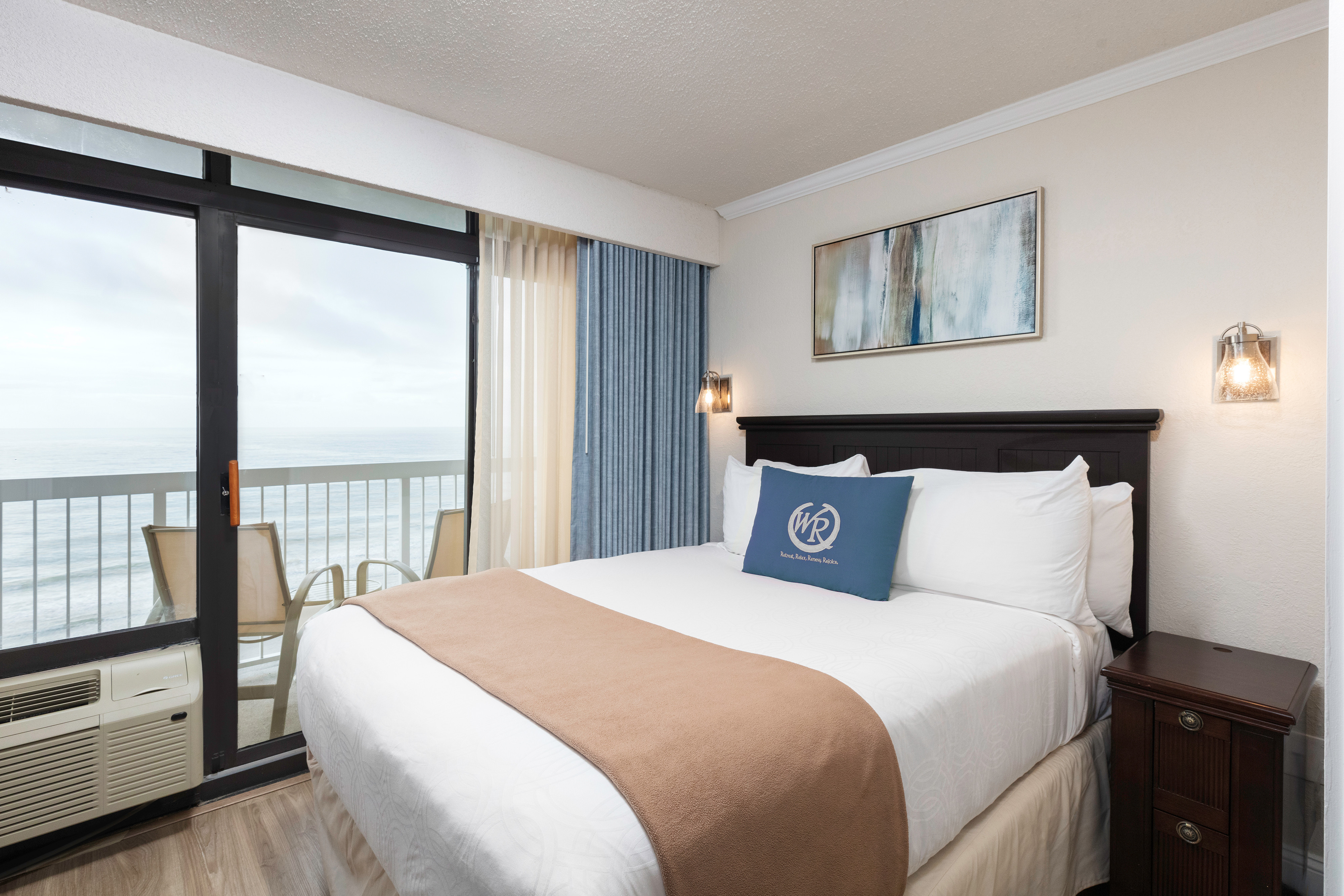 Accommodations at our Myrtle Beach Resort and Oceanfront Hotel | Villa Bedroom with Ocean View