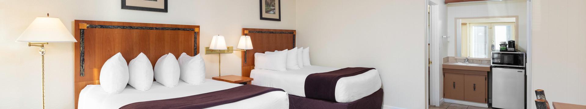 Bedroom in the Standard Queen Room - River Terrace Resort