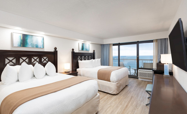 Bedroom in the Double oceanfront villa - Westgate Myrtle Beach Resort