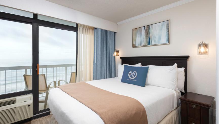 Bedroom with ocean views at Westgate Myrtle Beach Resort - Housekeeping Jobs