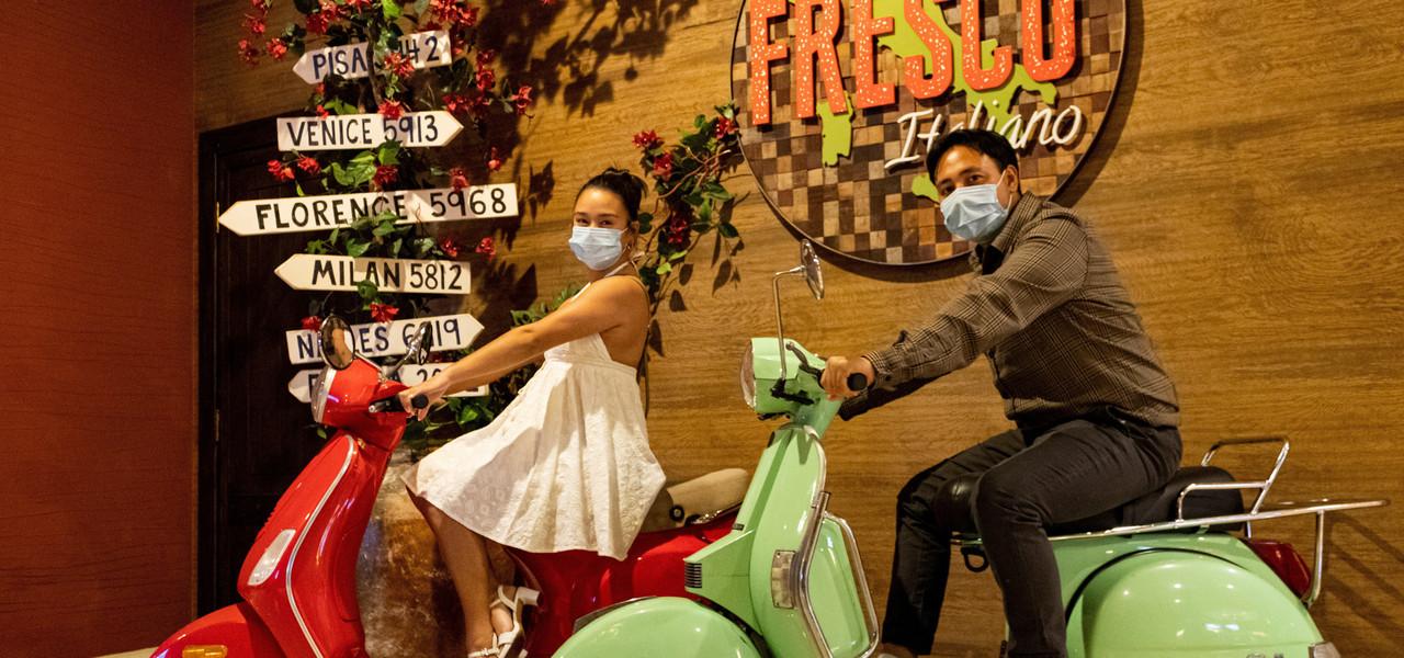 Happy Couple at Fresco Italiano - Westgate Las Vegas