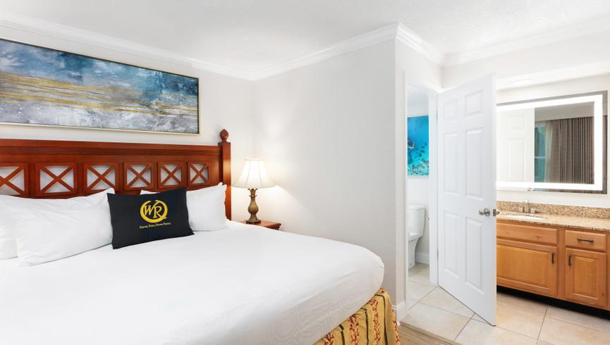 Bedroom in the One Bedroom Villa | Westgate Blue Tree Resort