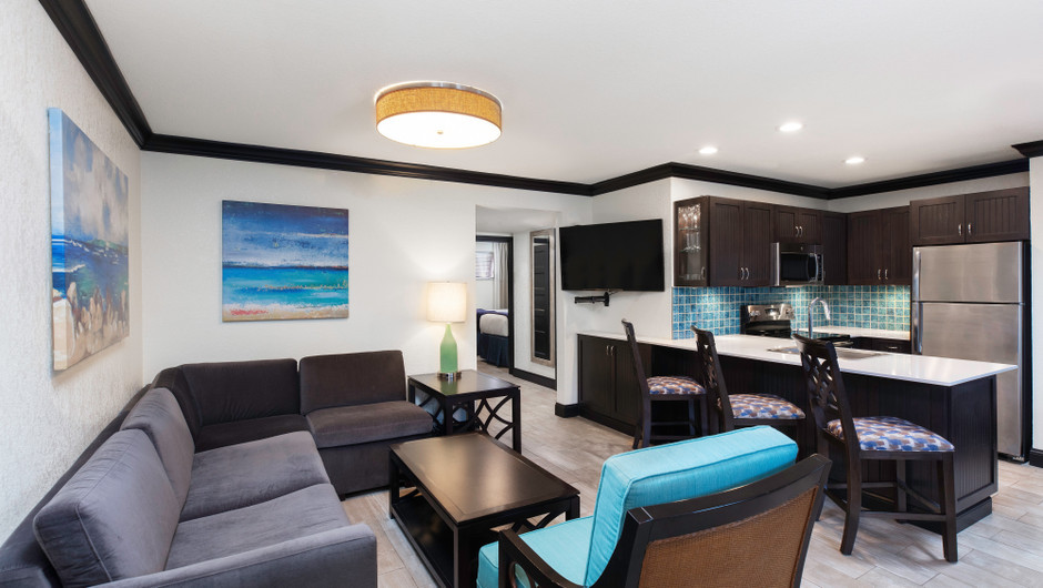 Living Area in Luxury Two Bedroom Suite| Westgate Cocoa Beach Resort | Westgate Resorts
