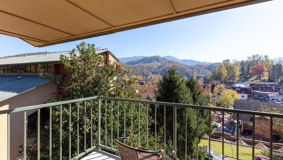 Balcony in the Standard Queen Room | River Terrace Resort