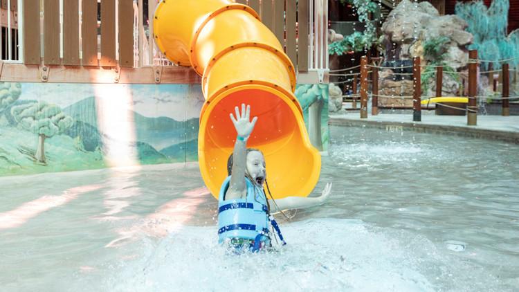 Splash Pads Water Slide Fun