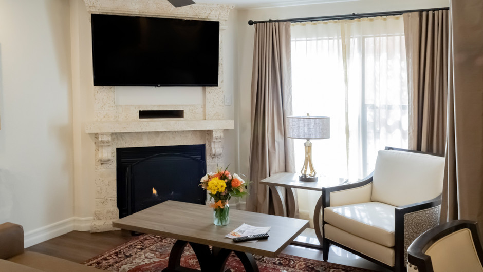 Living Area   One-Bedroom Villa   Westgate Flamingo Bay Resort   Westgate Resorts in Las Vegas NV
