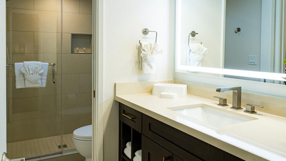 Master Bathroom   One-Bedroom Villa   Westgate Flamingo Bay Resort   Westgate Resorts in Las Vegas NV