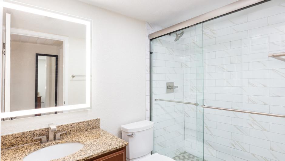 Bathroom in One Bedroom Villa at our Orlando resorts | Westgate Blue Tree Resort | Westgate Resorts Orlando
