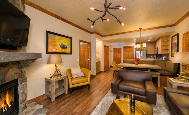 Park City, Utah Hotel and Ski Resort located near Park City Mountain | Villa Living Area with Fireplace
