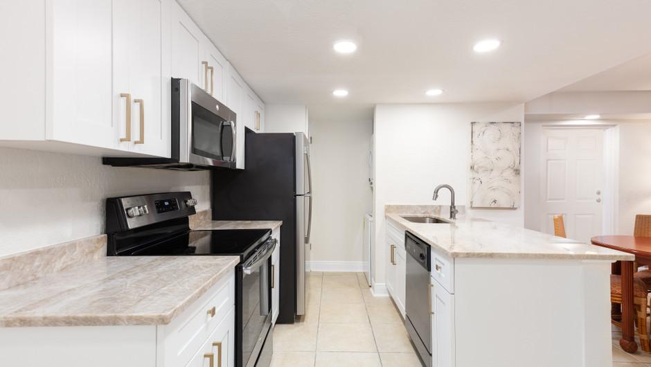 Kitchen in One-Bedroom Villa at our hotel villas in Orlando Florida   Westgate Towers Resort   Westgate Resorts