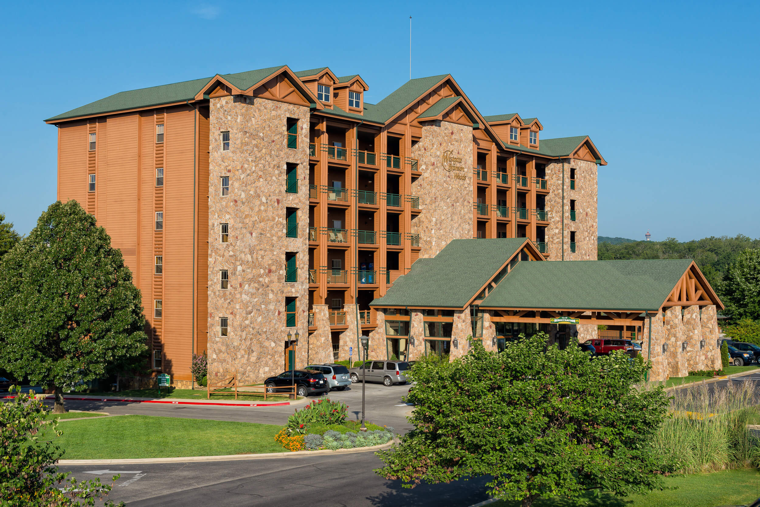 Exterior of one of our Resorts in Branson MO | Westgate Branson Woods Resort | Westgate Resorts