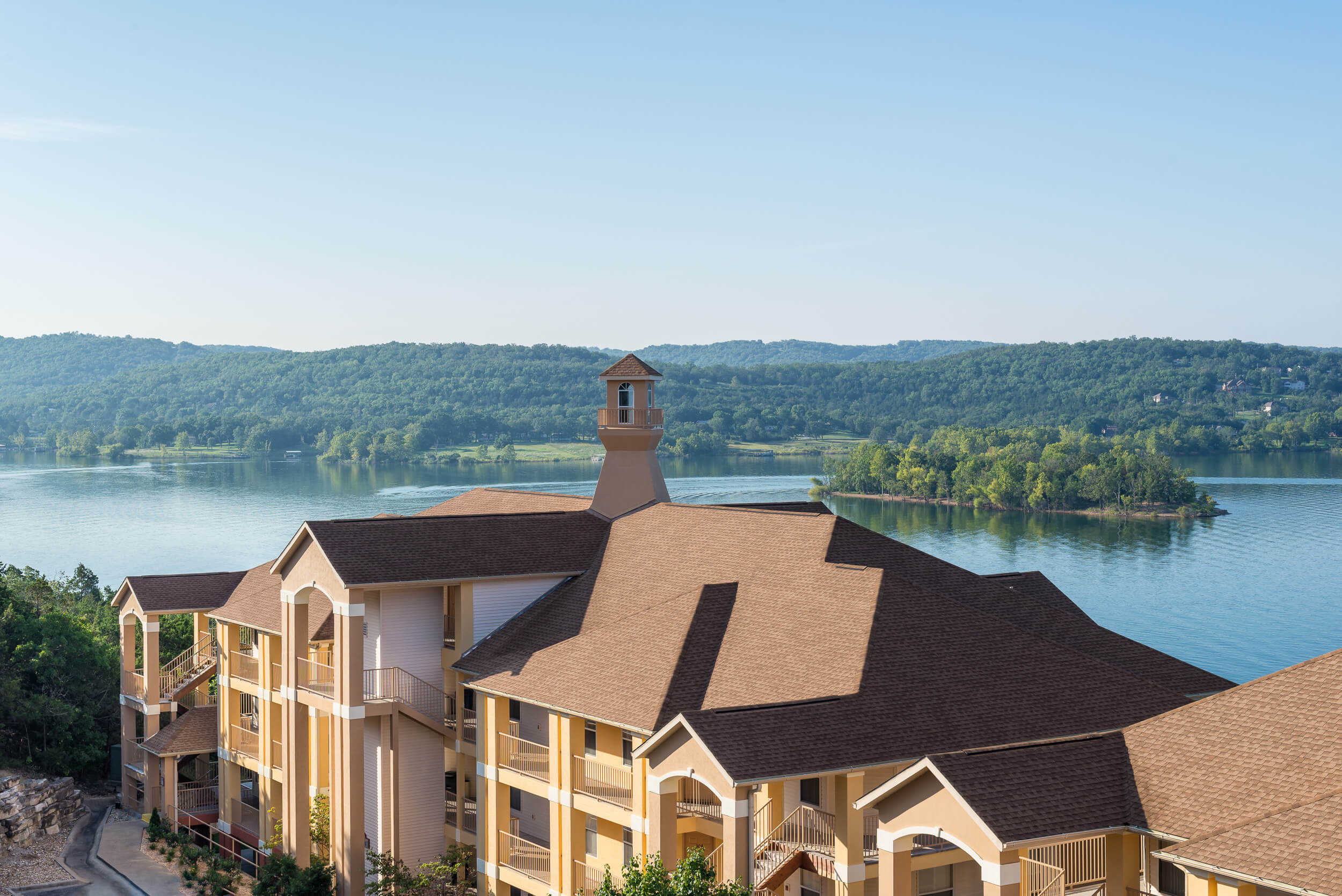 Exterior of our Resorts in Missouri on Emerald Point | Westgate Branson Lakes Resort | Westgate Resorts