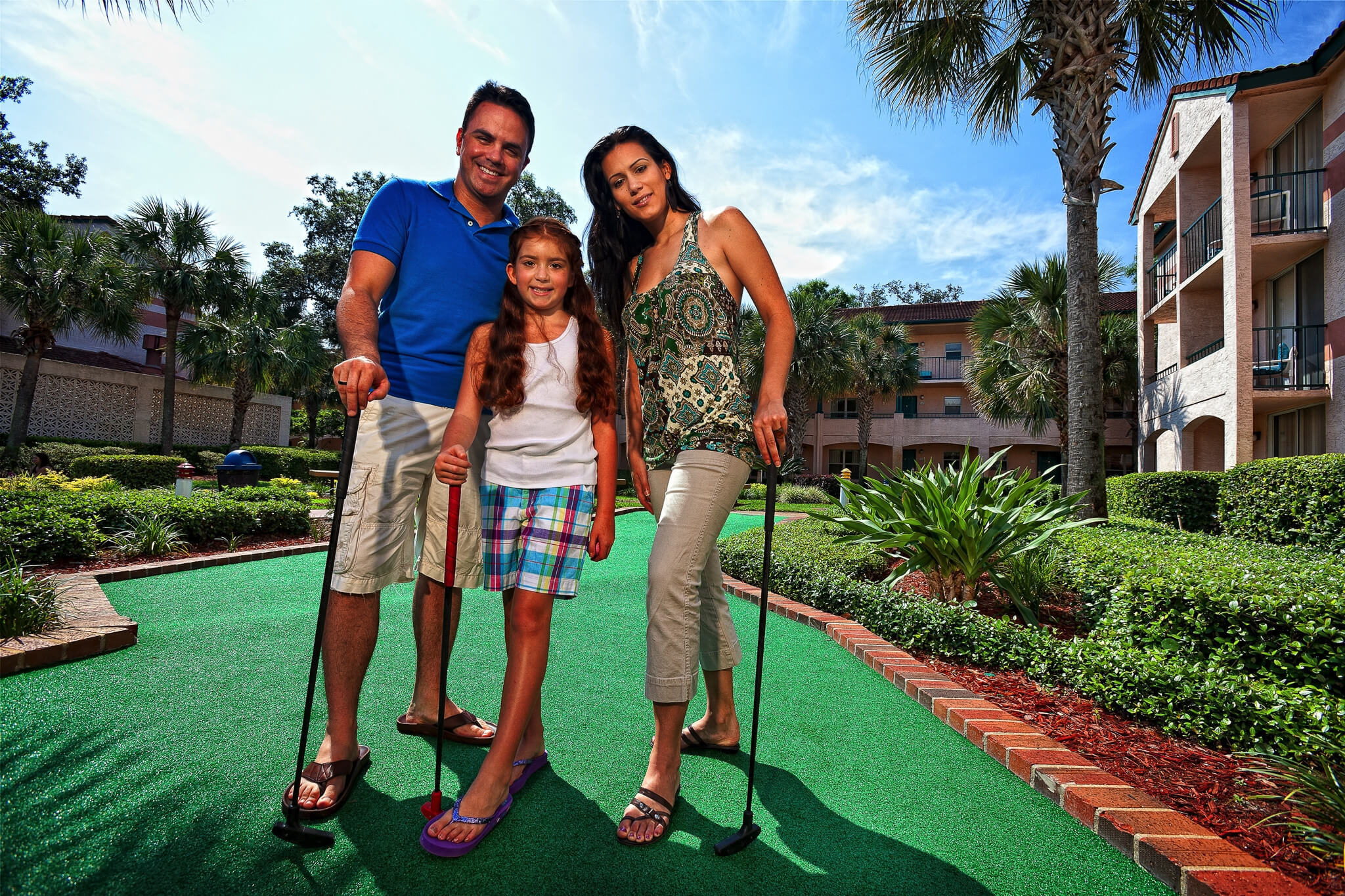 Family enjoying round of Mini Golf | Westgate Blue Tree Resort | Westgate Resorts Orlando