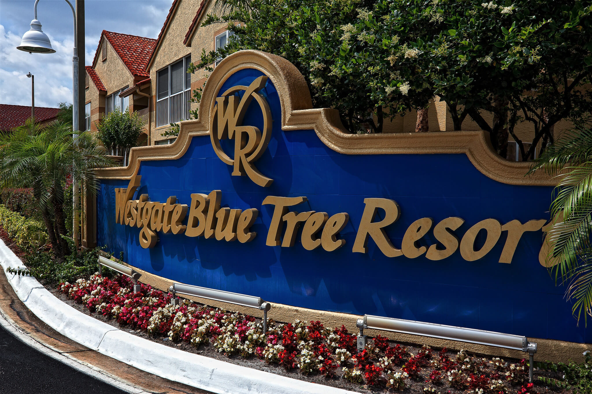 Main Entrance to Resort with Westgate Blue Tree Resort sign | Westgate Blue Tree Resort