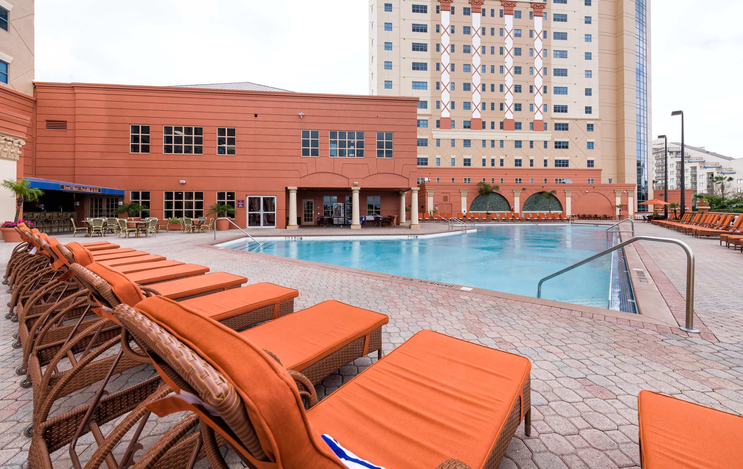 Pool Deck with View of Building | Westgate Palace Resort | Orlando, FL | Westgate Resorts