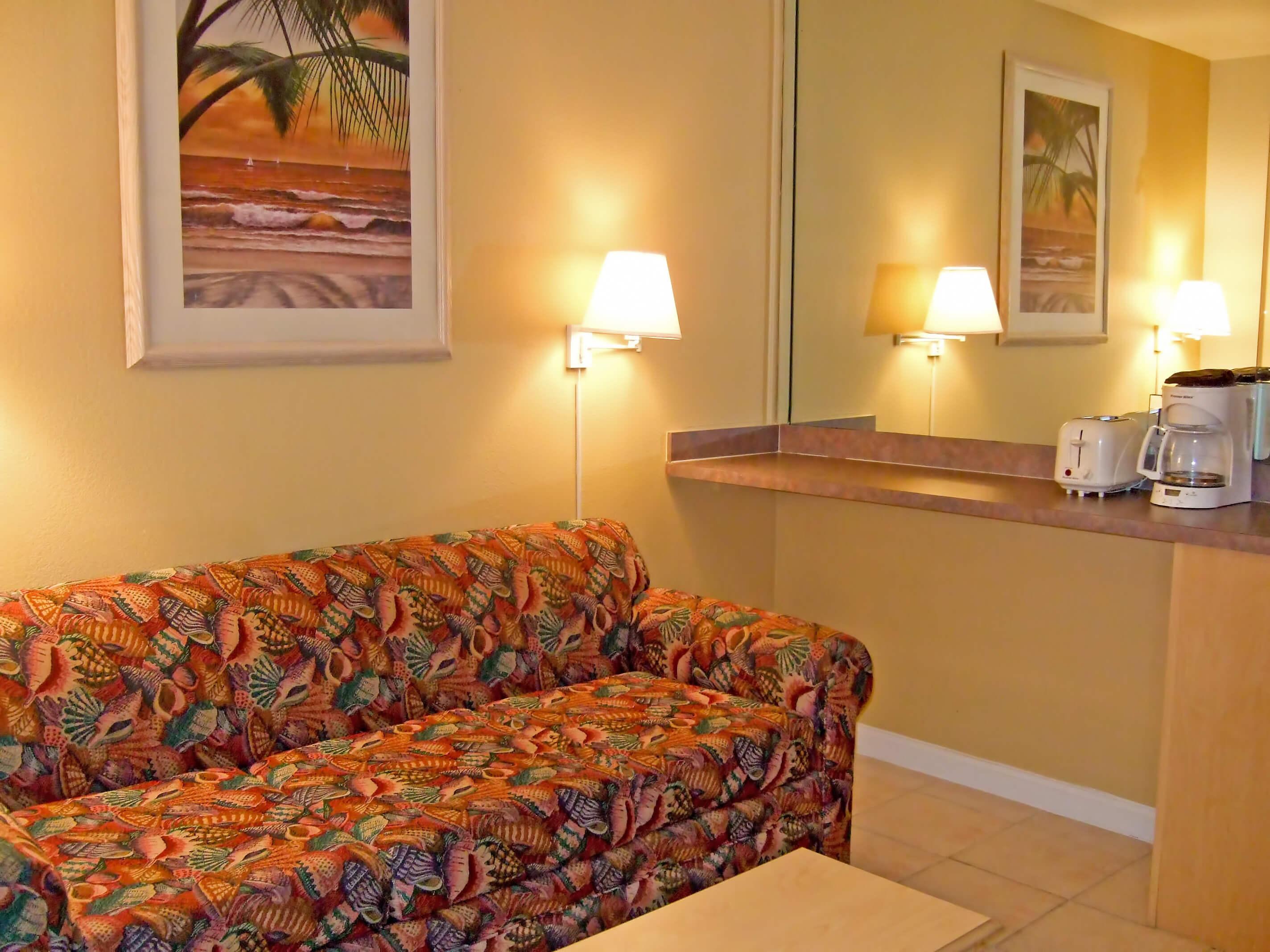 Daytona Beach Westgate Resorts | One-Bedroom Villa with Living Area and Queen Sleeper Sofa | Harbour Beach Resort