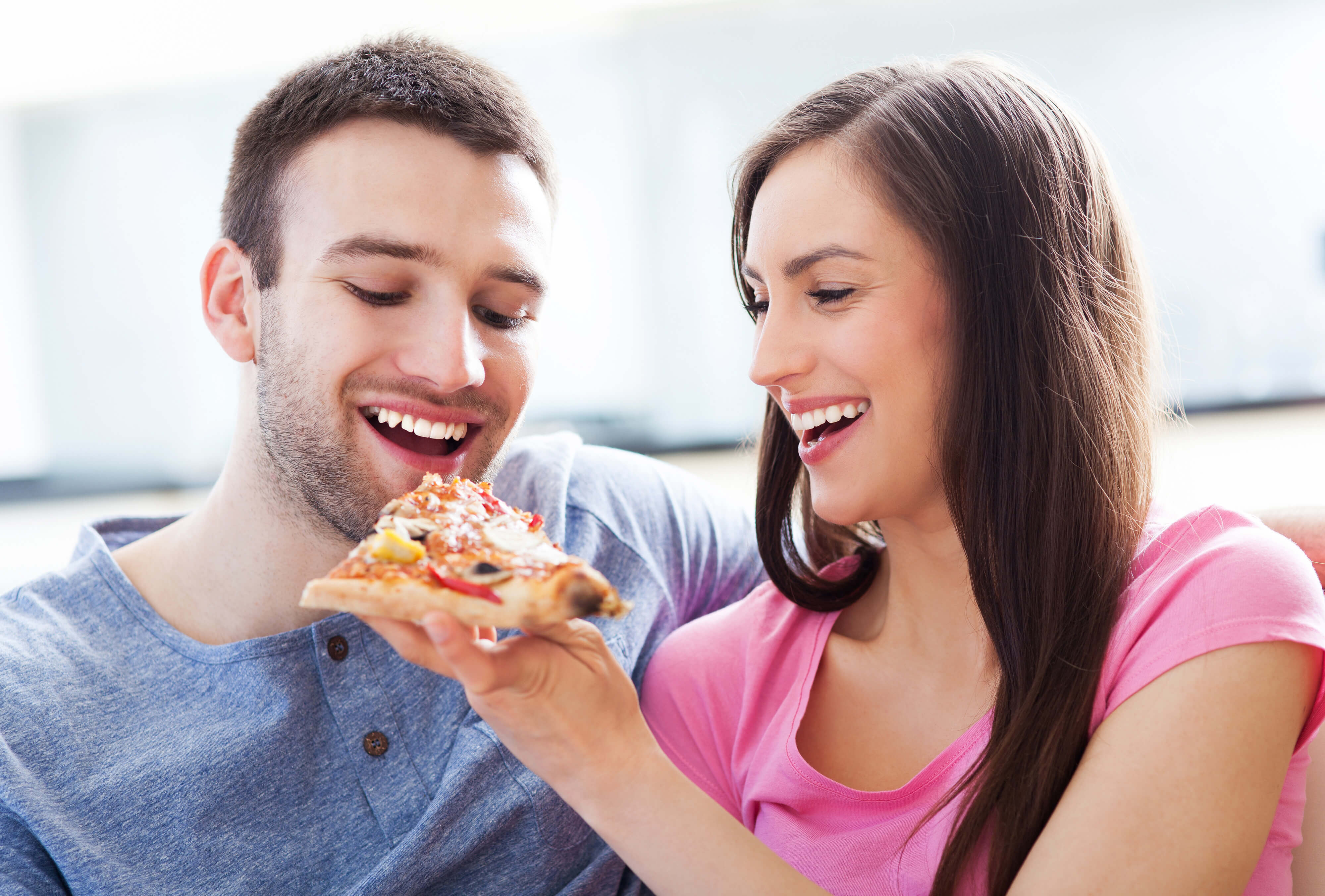 Pizza in Kissimmee near Disney World | Couple Eating Pizza