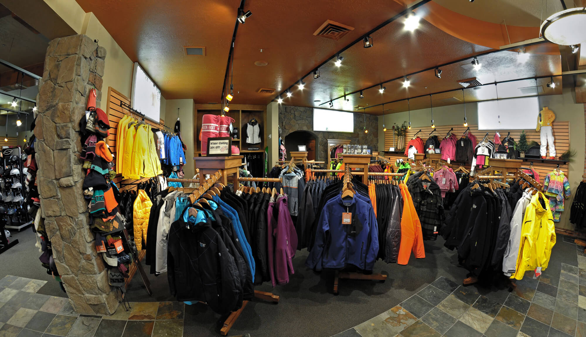 Ski jackets and hats on display | Westgate Park City Resort & Spa | Westgate Resorts
