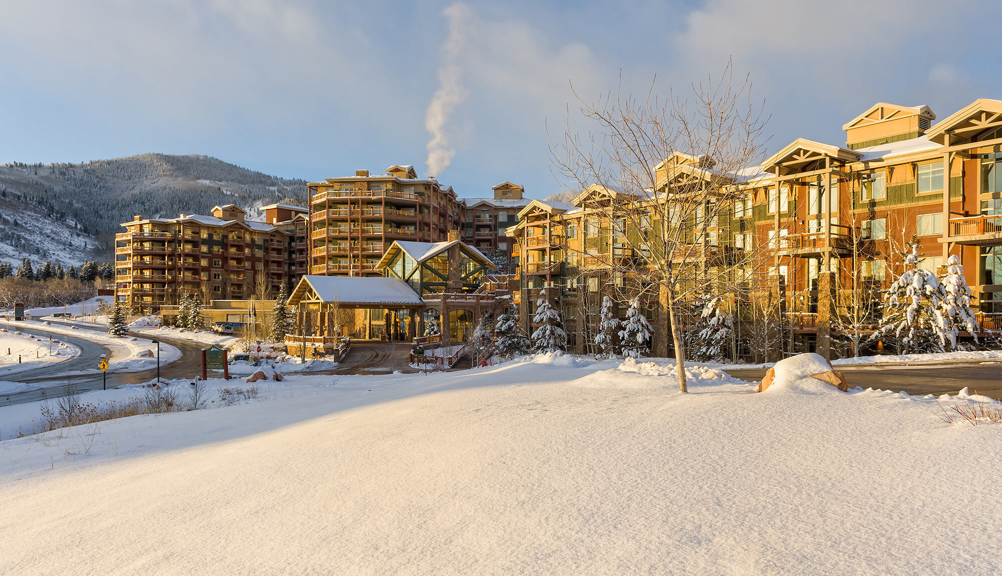 Wintry scene outside Park City resort in Utah | Westgate Park City Resort & Spa | Westgate Resorts