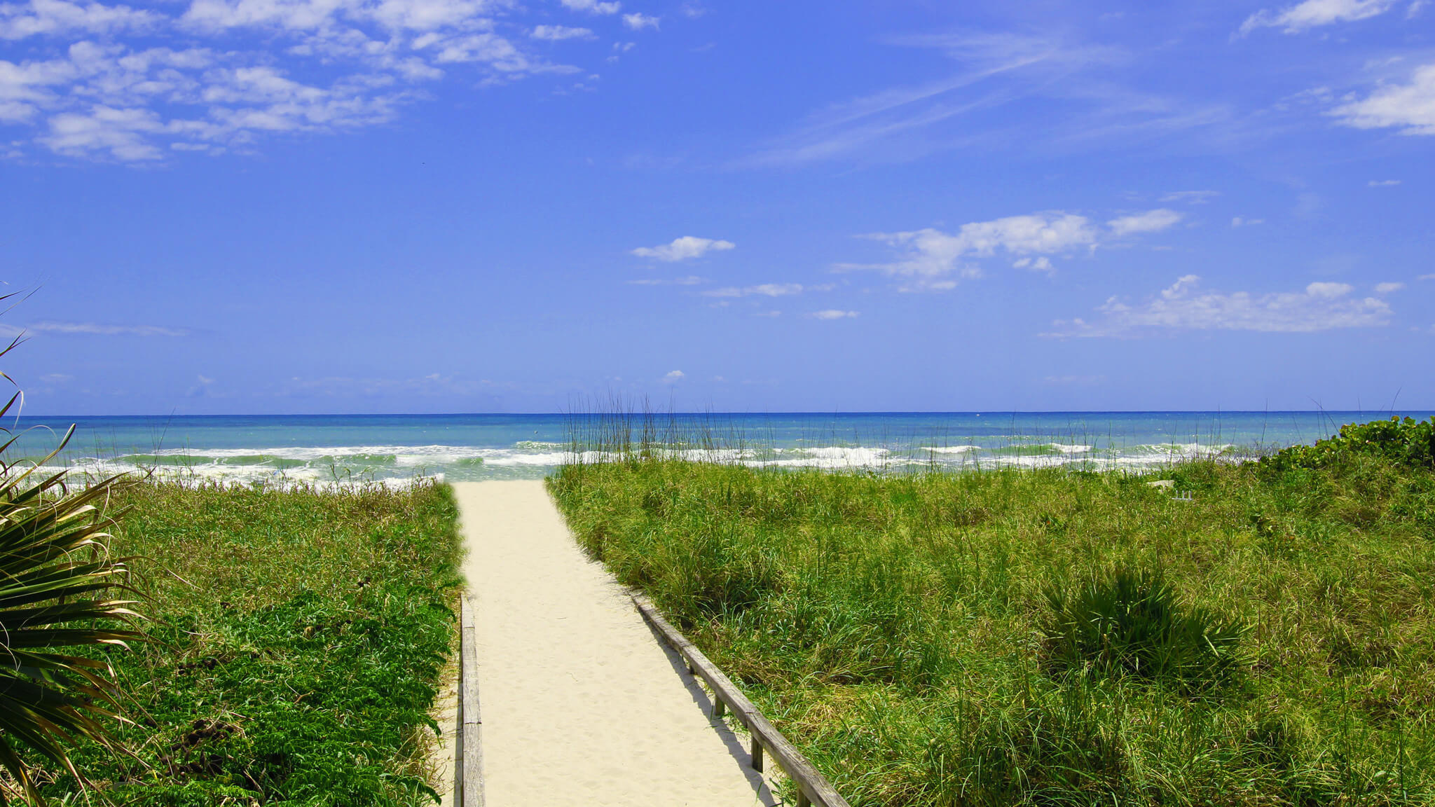 Path from Resort to white-sand beach | Wakulla Suites a Westgate Resort | Westgate Cocoa Beach Resorts